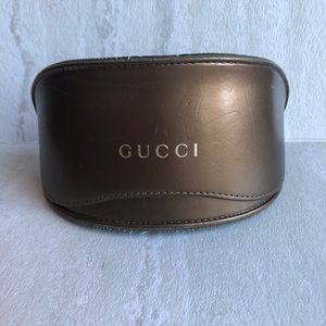 Gucci gold bronze sunglasses case
